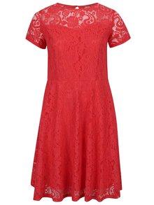 Rochie roșie Dorothy Perkins Curve din dantelă