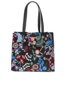 Čierna kvetovaná kabelka do ruky Dorothy Perkins