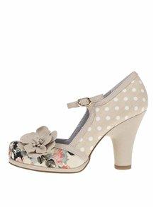 Pantofi bej cu toc Ruby Shoo Tanya cu toc masiv