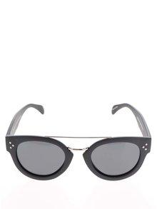 Čierne unisex slnečné okuliare so sklom v čiernej farbe CHPO Stockholm