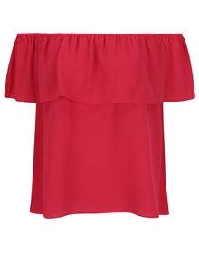 Ružový top s odhalenými ramenami Dorothy Perkins