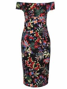 Černé vzorované pouzdrové šaty Dorothy Perkins