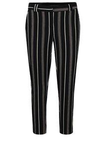 Bílo-černé pruhované zkrácené kalhoty Dorothy Perkins