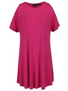 Ružové voľné šaty s prestrihmi na ramenách Dorothy Perkins