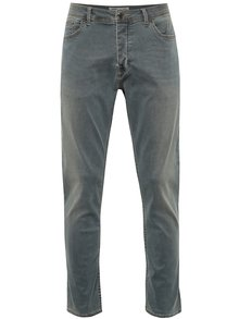 Sivé stretch slim rifle Burton Menswear London