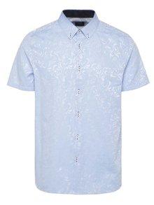 Svetlomodrá vzorovaná košeľa Burton Menswear London