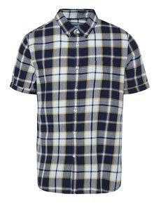 Krémovo-modrá kockovaná košeľa Burton Menswear London