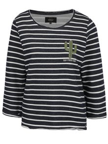 Bluză crem-albastră ONLY Milan cu dungi