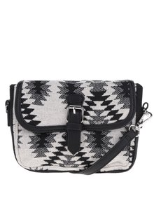 Čierno-krémová crossbody kabelka Pieces Simone