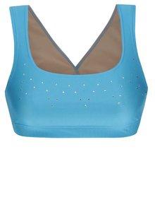 Modrá športová podprsenka s aplikáciou Mania fitness wear Falling star