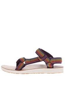 Zeleno-fialové žíhané dámské sandály Teva