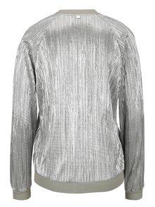 Lehký plisovaný bomber ve stříbrné barvě Rich & Royal