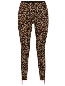 Hnedé športové leopardie legíny Mania fitness wear Tender Beast