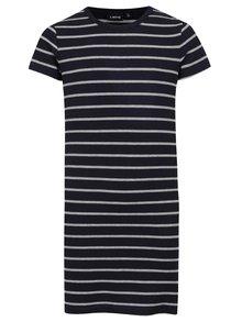 Šedo-modré holčičí pruhované šaty LIMITED by name it Saba
