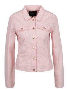 Ružová rifľová bunda s vreckami ONLY Westa