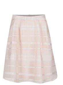 Fustă roz deschis VILA Falda cu model în dungi