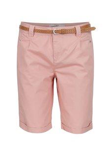 Pantaloni scurți roz VERO MODA Boni din bumbac