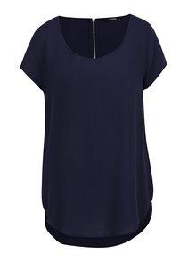 Tricou bleumarin  Haily´s Liane cu fermoar pe spate
