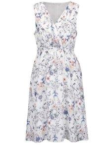 Rochie albă VILA Kasuli cu model floral