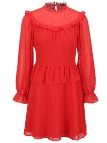 Rochie roșie cu volane Miss Selfridge