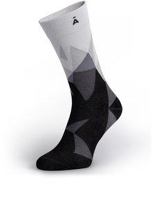 Sivo-čierne vzorované unisex ponožky V páru