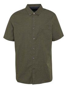 Zelená vzorovaná košile s krátkým rukávem Burton Menswear London