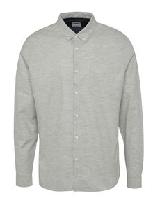 Světle šedá žíhaná košile Burton Menswear London