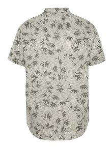Béžová vzorovaná košeľa s krátkym rukávom Burton Menswear London