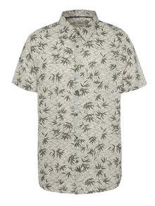 Béžová vzorovaná košile s krátkým rukávem Burton Menswear London