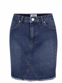 Modrá džínová sukně s roztřepeným lemem Miss Selfridge