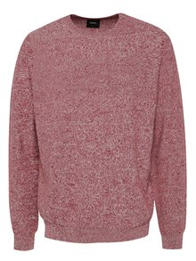 Pulover vișiniu melanj Burton Menswear London din bumbac