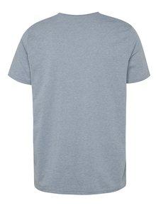 Světle modré basic tričko s krátkým rukávem Burton Menswear London