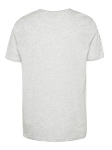 Světle šedé žíhané basic tričko s krátkým rukávem Burton Menswear London