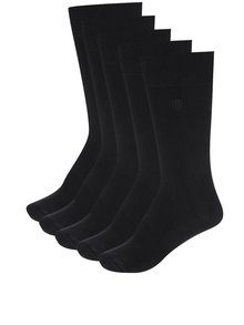 Set de 5 perechi de șosete negre Burton Menswear London