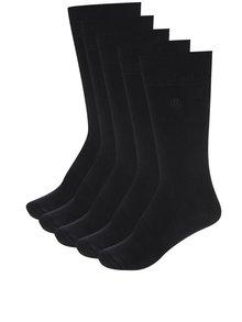 Sada pěti páru ponožek v černé barvě Burton Menswear London