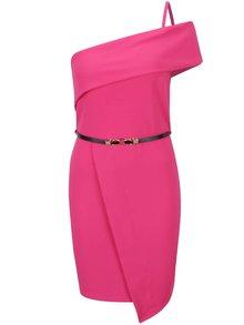 Rochie roz asimetrică Miss Selfridge cu curea
