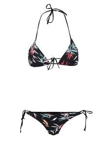 Čierne vzorované dámske dvojdielne plavky Rip Curl Las Dalias