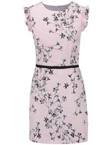 Růžové šaty s motivem květin Miss Selfridge