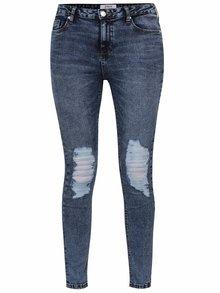 Modré žíhané džíny s potrhaným efektem Miss Selfridge