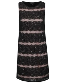 Černé krajkové šaty bez rukávů Dorothy Perkins
