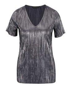 Top gri Dorothy Perkins cu model și aspect metalic