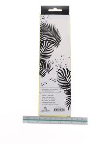 Set 8 creioane alb&negru Galison cu radieră