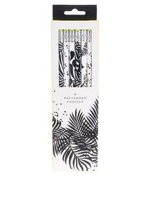 Set 8 creioane alb&negru Galison cu radiera
