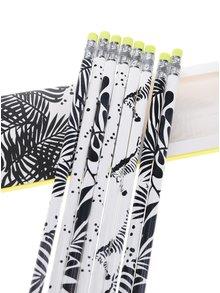 Sada osmi černo-bílých vzorovaných tužek Galison