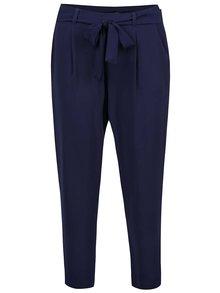 Pantaloni bleumarin Dorothy Perkins cu cordon în talie