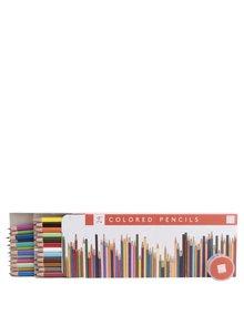 Set 24 creioane colorate Galison cu ascuțitoare