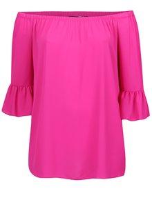 Ružová voľná blúzka s odhalenými ramenami Dorothy Perkins Curve