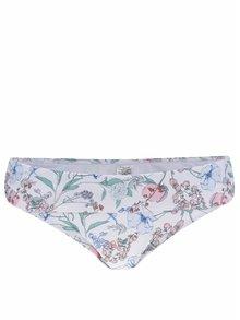 Bílý květovaný spodní díl plavek Dorothy Perkins