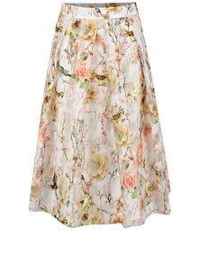 Krémová květovaná sukně Apricot