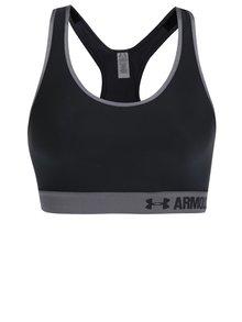 Sivo-čierna športová podprsenka Under Armour Mid 'UA' Graphic